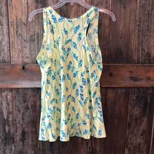 Lilly Pulitzer Tops - Lilly Pulitzer, S, Yellow Floral Tank Top